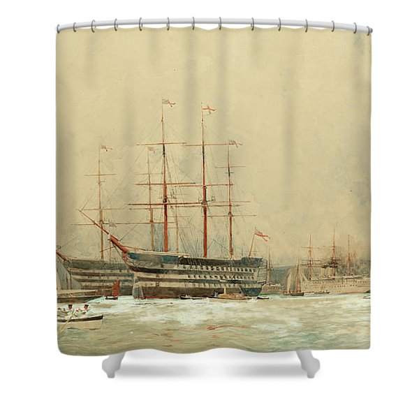 First-rates At Portsmouth Shower Curtain