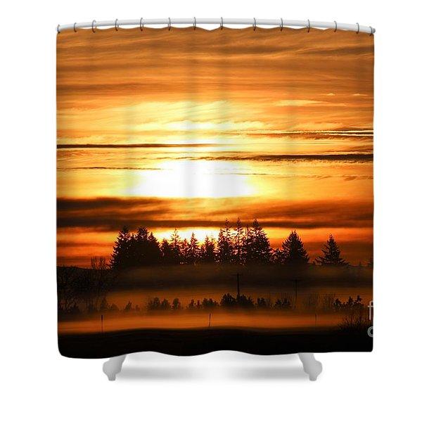 First Sunrise Shower Curtain