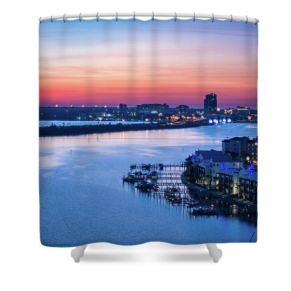 Firstlight Over Clearwater Shower Curtain