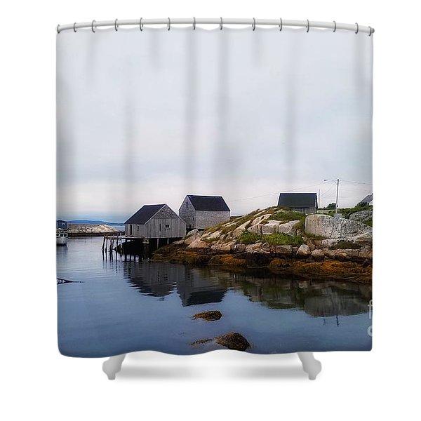 Fish Shacks  Shower Curtain