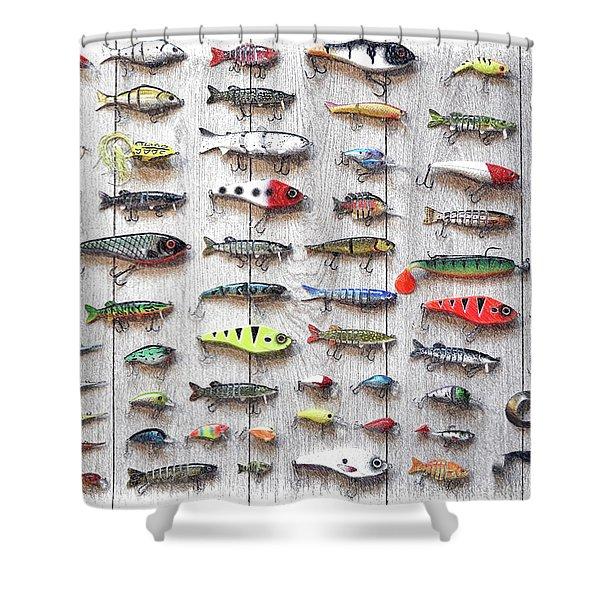 Fishing Lures - Dwp2669219 Shower Curtain