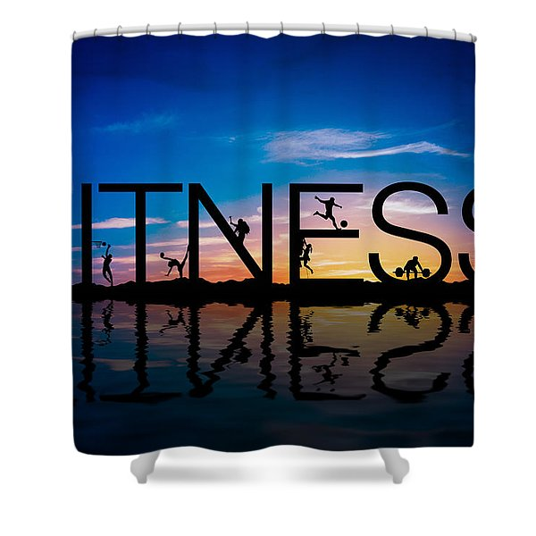 Fitness Concept Shower Curtain