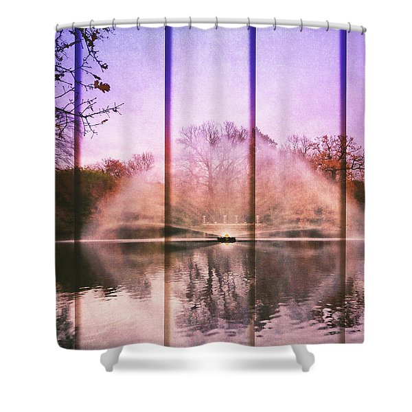 Five Panel Water Fountain Shower Curtain