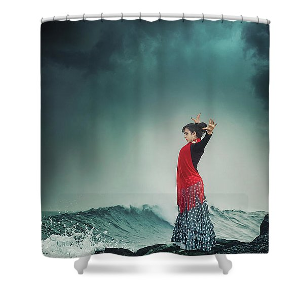 Flamenco Infusion Shower Curtain