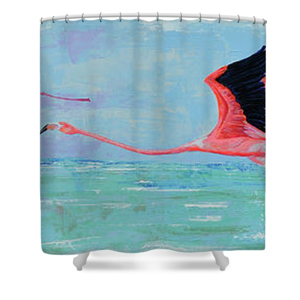 Flamingoes For Audrey Shower Curtain
