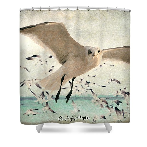 Flight Of The Gulls Shower Curtain