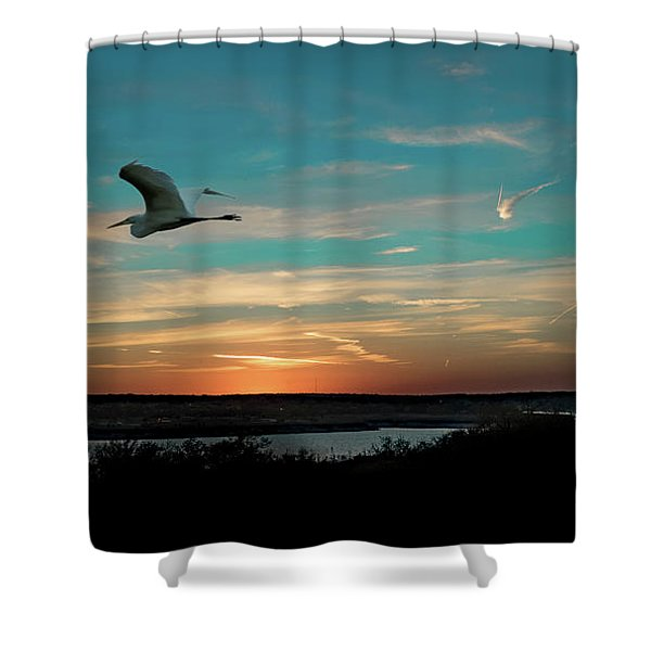 Flight To The Lake Shower Curtain
