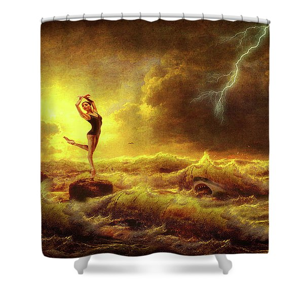 Flirting With Disaster Shower Curtain