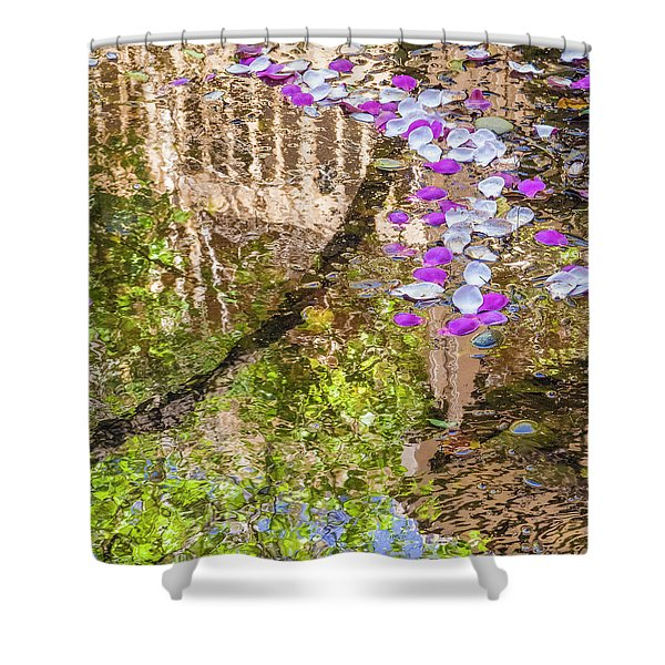 Floating Magnolia Petals Shower Curtain