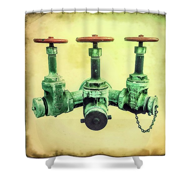 Floating Water Pipes Shower Curtain
