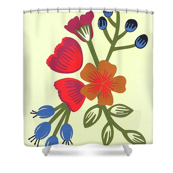 Flora, Cut Paper Shower Curtain