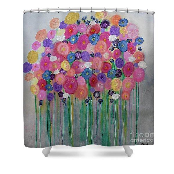 Floral Balloon Bouquet Shower Curtain