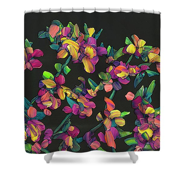 Floral Interpretation - Lantana Study Shower Curtain