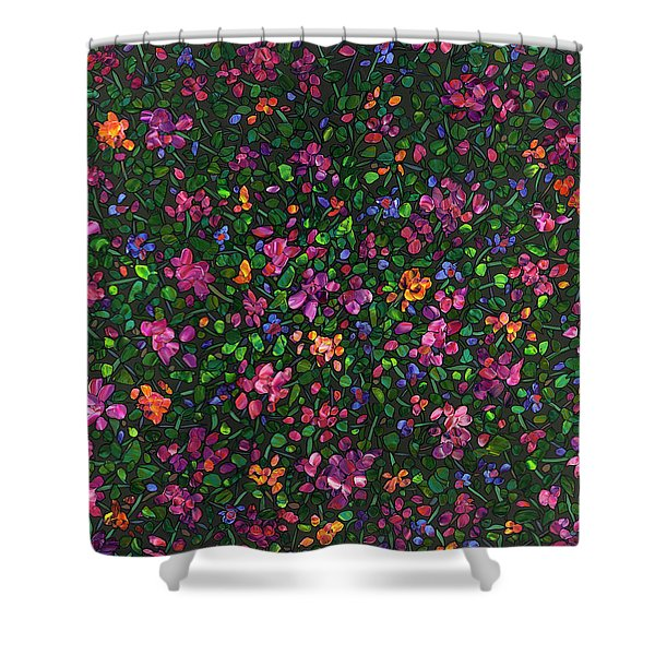 Floral Interpretation - Weedflowers Shower Curtain