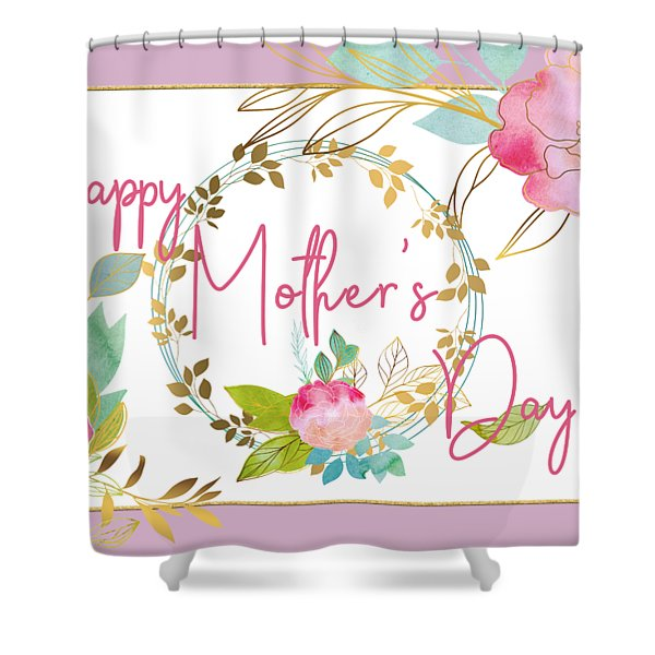 Floral Mother's Day Art Shower Curtain