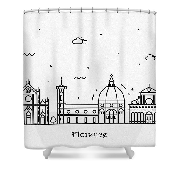 Florence Cityscape Travel Poster Shower Curtain