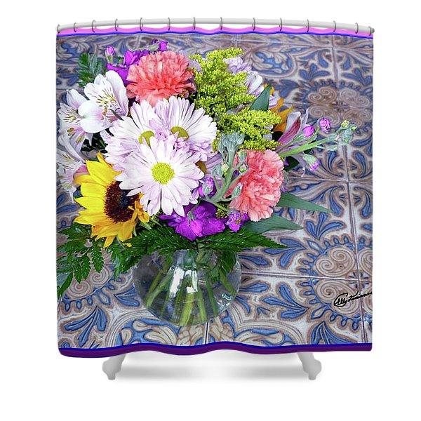 Flower Bouquet  Shower Curtain