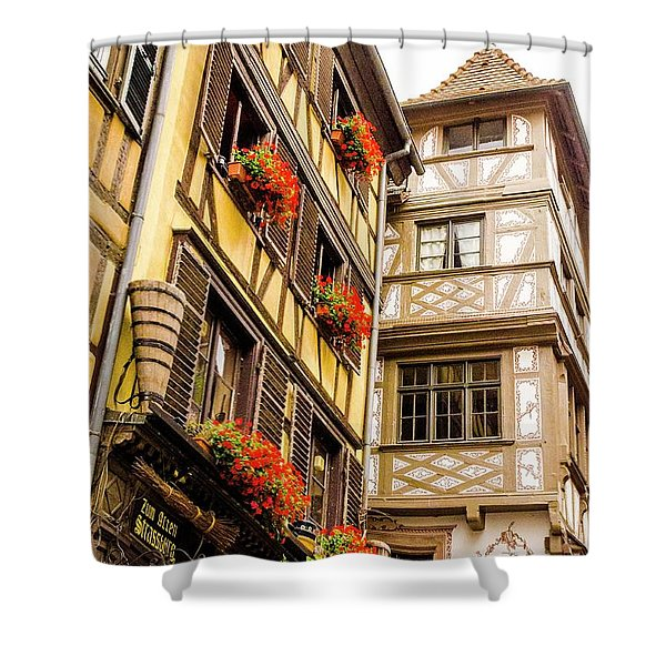 Flower Boxes Strasbourg Shower Curtain