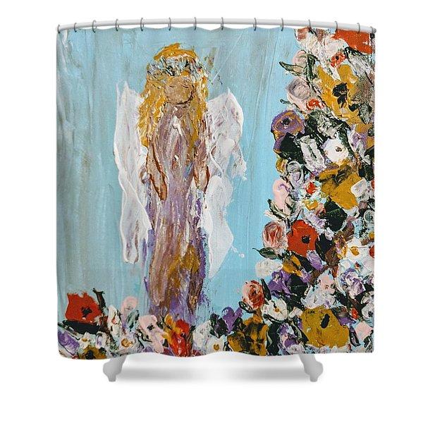 Flower Child Angel Shower Curtain