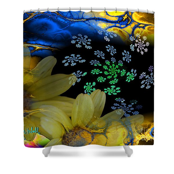 Flower Power In The Modern Age Shower Curtain