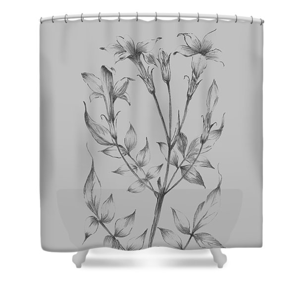 Flower Sketch II Shower Curtain