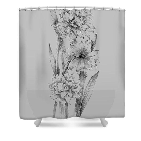 Flower Sketch IIi Shower Curtain