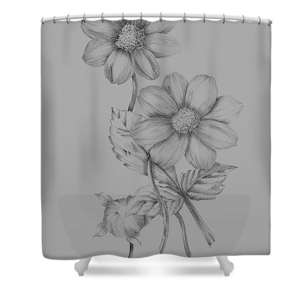 Flower Sketch Shower Curtain