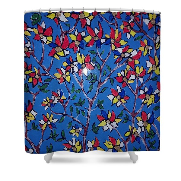 Flower Trees Shower Curtain