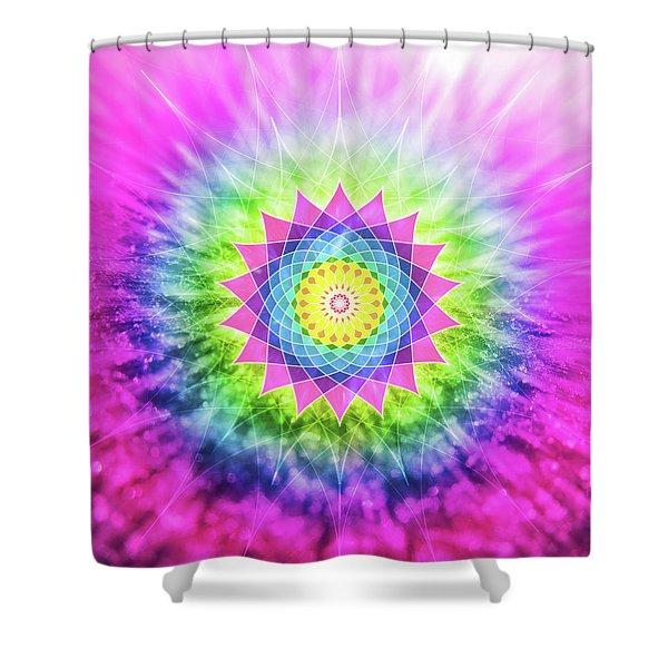 Flowering Mandala Shower Curtain