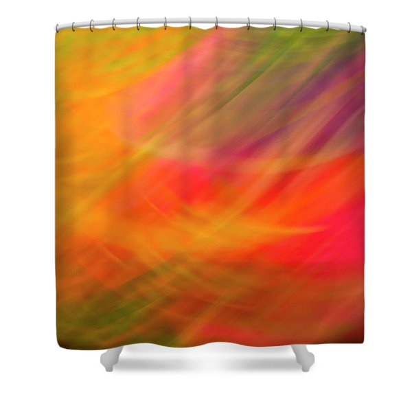 Flowers In Abstract Shower Curtain