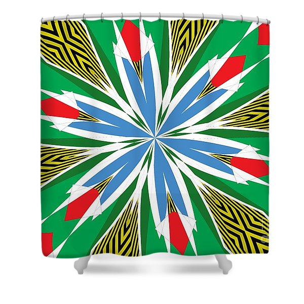 Flowers Number 17 Shower Curtain