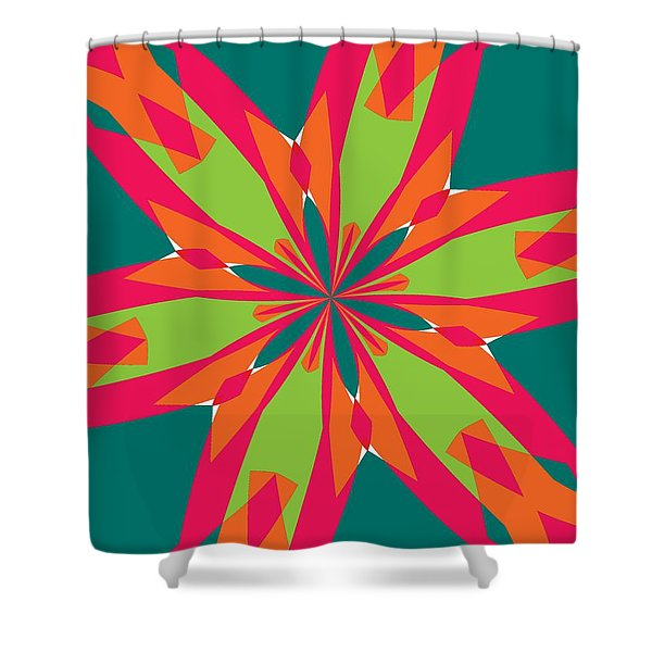 Flowers Number 21 Shower Curtain