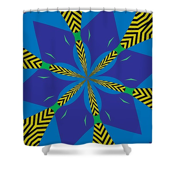 Flowers Number 22 Shower Curtain