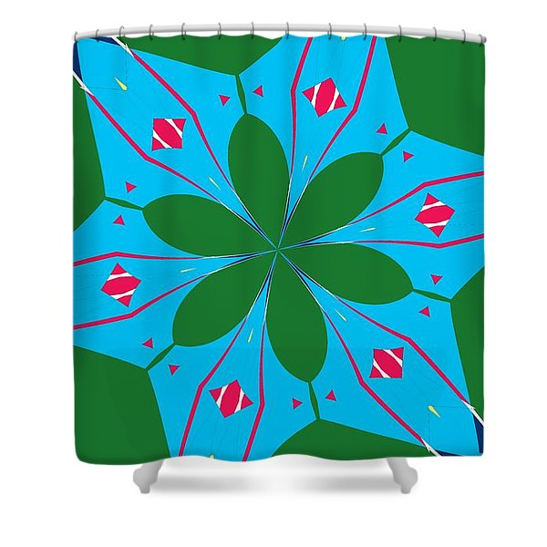 Flowers Number 23 Shower Curtain