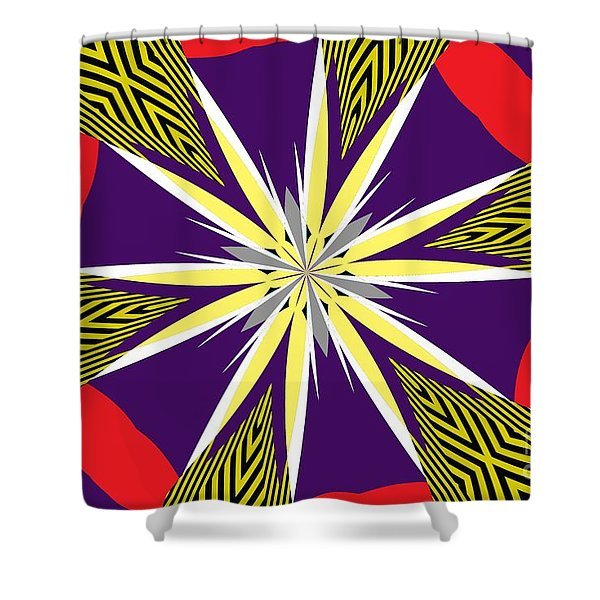 Flowers Number 24 Shower Curtain
