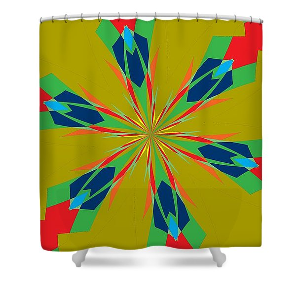 Flowers Number 27 Shower Curtain