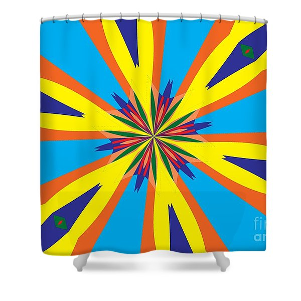 Flowers Number 28 Shower Curtain