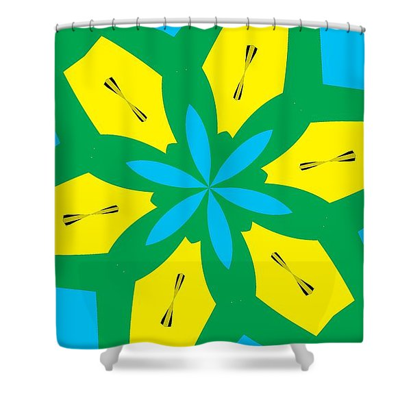 Flowers Number 36 Shower Curtain