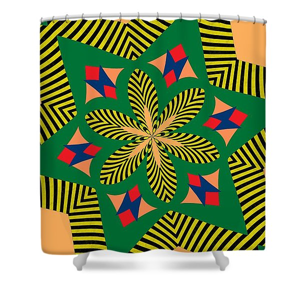 Flowers Number 7 Shower Curtain