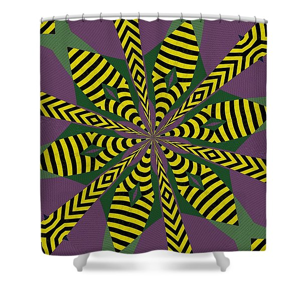 Flowers Number Eight Shower Curtain
