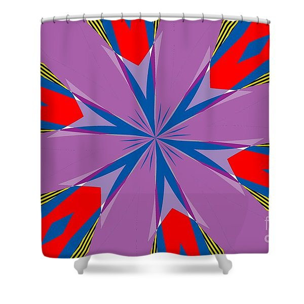 Flowers Number Four Shower Curtain
