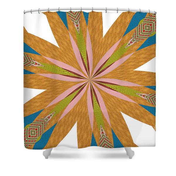 Flowers Number Nine Shower Curtain