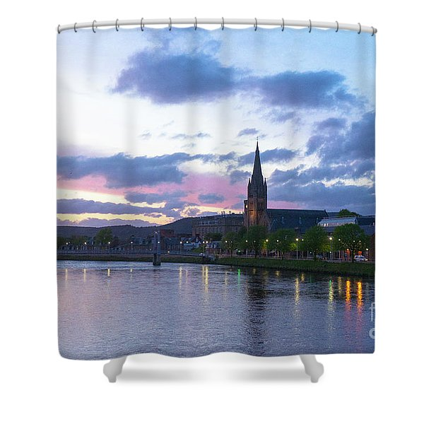 Flowing Down The River Ness Shower Curtain
