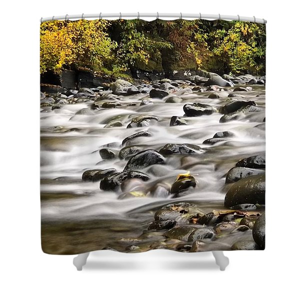Flowing Molalla Shower Curtain