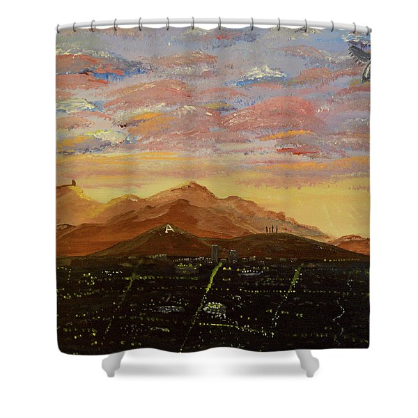 Flying Over Tucson Shower Curtain