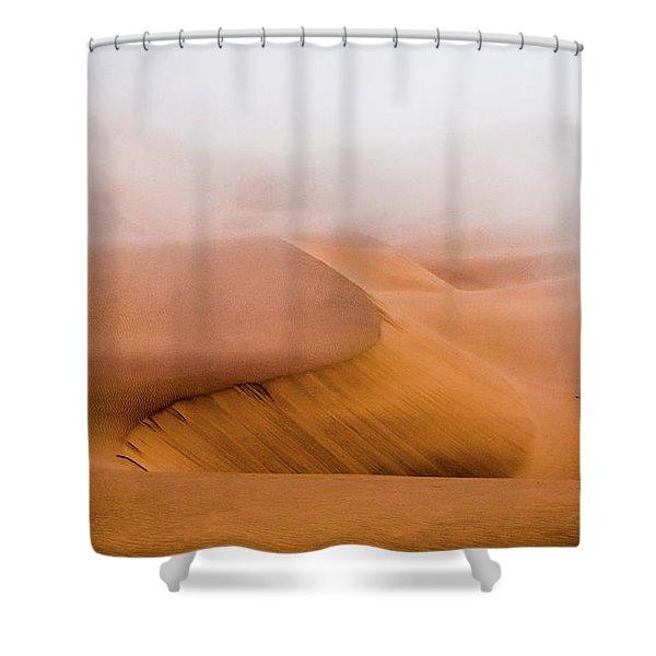 Foggy Namib Desert Shower Curtain