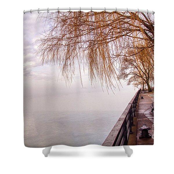 Foggy Niagara Shower Curtain