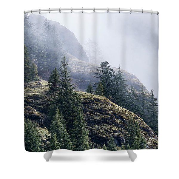 Foggy On Saddle Mountain Shower Curtain