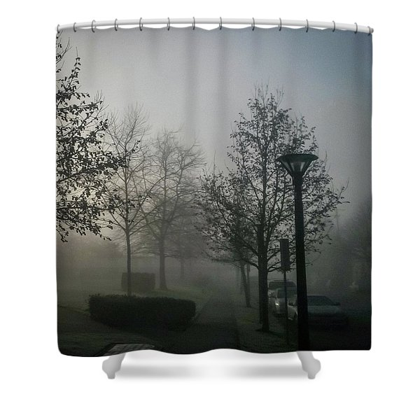 Shower Curtain featuring the photograph Foggy Street by Juan Contreras
