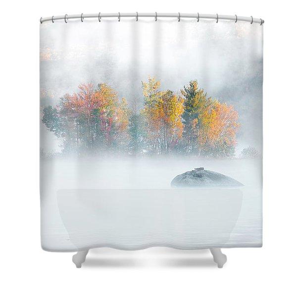 Foliage Burst At Leffert's Pond Vermont Shower Curtain